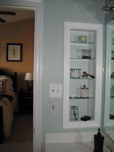 Girl Meets Home: Turn Old 70s Medicine Cabinet Into Open Shelving.