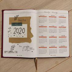 Bullet journal 2020 Bullet journal setup year at a glance page Bullet Journal 1st Page, Bullet Journal Year At A Glance, Bullet Journal Tracker, Bullet Journal Notebook, Bullet Journal Inspo, Bullet Journal Layout, Bullet Journal Ideas Pages, Bullet Journal Yearly Overview, Bellet Journal