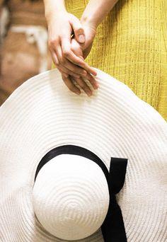 big, floppy, straw hat
