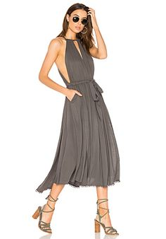 Free People Spring Love Midi Dress in Carbon | REVOLVE