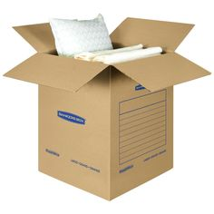 Bankers Box SmoothMove Basic Moving Boxes Large 18 x 18 x 24 Inches 7 Pack Moving Boxes, Lab, Packing, Bag Packaging, Labs