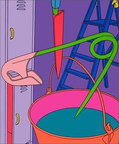Find the latest shows, biography, and artworks for sale by Michael Craig-Martin. Conceptual artist Michael Craig-Martin—who taught Damien Hirst, Gary Hume, a… Gary Hume, Michael Craig, Tree Carving, A Level Art, Everyday Objects, Simple Shapes, Pop Art, Illustration Art, Artsy