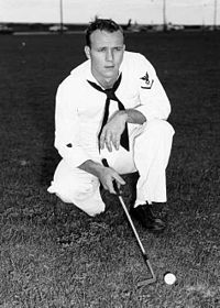 Arnold Palmer began playing golf under his father's tutelage in Latrobe, Pennsylvania, but his golf skills were cultivated while a student at then Wake Forest College. He went on to win 91 golf tournaments and named PGA Player of the Year twice.