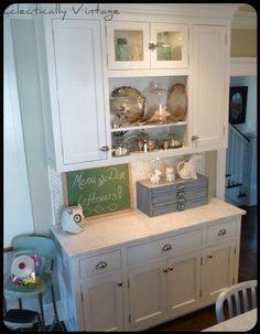 Matching kitchen hutch for extra storage (for the wall where the piano currently sits)