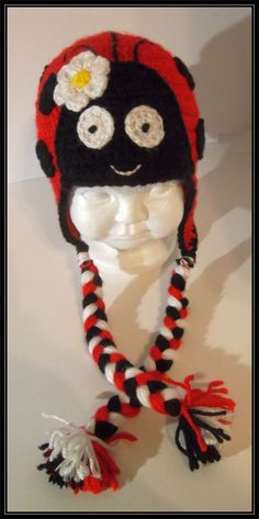 Crocheted ladybug hat - child