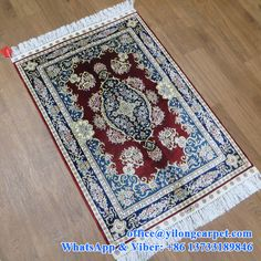 2' x 3' handmade oriental silk rugs made by Yilong Carpet Factory. ------Yilong Carpet is the professional and leading handmade carpet manufacturer in China. We can supply: Turkish knots silk carpet; hand knotted Persian carpets; hand weave wool and silk mixed carpet; Aubusson carpet; Aubusson tapestry; etc.