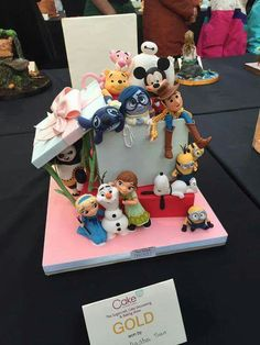 Characters in a box cake