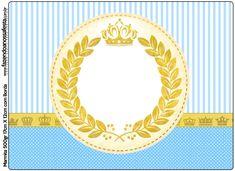 Kit Completo Coroa Príncipe! Congratulations Baby Girl, Tiffany Birthday Party, Verde Tiffany, Kids Sandbox, Shade Canopy, Baby Scrapbook, Princess Party, Party Printables, Diy And Crafts