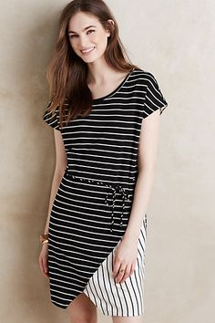 Tied Stripe Dress #anthropologie Adorable, cozy, and USA-made!