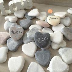 ♥+Herz+aus+Steinen,+7+St.+Marmorherz+♥+von+Crafts+&+Deco+auf+DaWanda.com