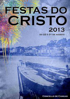 cartel oficial de las fiestas del cristo cangas 2013