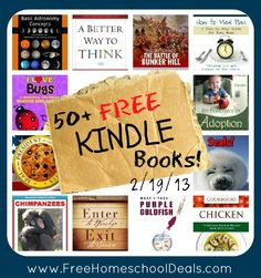 Free Kindle Books: How to Meal Plan A Step by Step Guide for Busy Moms, History for Kids The Battle of Bunker Hill, An Introduction to Basic Astronomy Concepts + More!