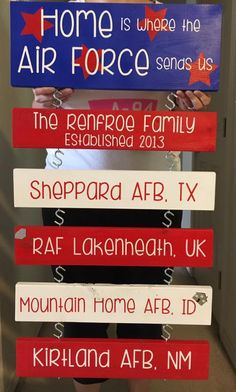 Military Duty Stations USAF Air Force life PCS .............. by TwoCREATivEGals