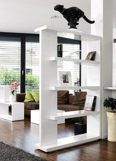80 Incredible Room Dividers and Separators With Selves Ideas 22 Living Room Kitchen Divider, Living Room Partition Design, Room Partition Designs, Living Room Decor, Room Deviders, Room Divider Shelves, Living Room Designs, Interior Design, Design Room