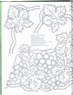 Cutwork Embroidery, Vintage Embroidery, Embroidery Designs, Point Lace, Cut Work, Coloring Pages, Needlework, Stencils, Monogram