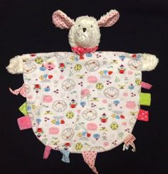 """Pre-owned Security Blanket / Lovey / Comforter / Doudou / Nunu. Gently uses blanket with a white scruffy dog head. One side had hearts and """"Magic Tales"""" written on it. The other side is pink. Scruffy Dogs, Baby Security Blanket, Baby Equipment, Baby Lovey, Crib Blanket, Sleep Sacks, Handmade Baby, Baby Boy Outfits, Baby Items"""