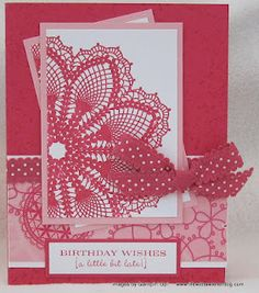 Stampin' Up Hello, Doily by Angela Walters on www.lifewithawienerdog.com