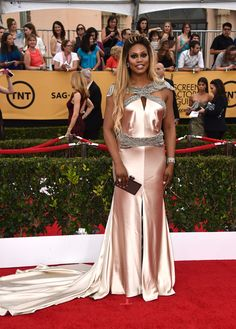2015 Screen Actors Guild Awards Red Carpet///  Yes.  Me and my dress will be sweeping up after the show.