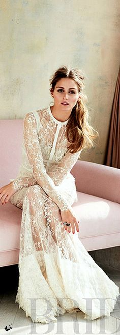 Olivia Palermo for Brides magazine ================================ For best UNIQUE HANDMADE BRIDAL ACCESSORIES , welcome to visit our shop :https://www.etsy.com/shop/Lesense    454      113 Wedding Bells, Lace Weddings, Cool Style, Style Fashion, Lace Wedding Dress