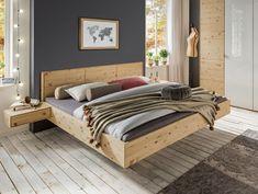 Schwebebett aus hochwertigem Zirbenholz, aromatisch duftend und massiv. Nehmen Sie die wohltuenden Effekte des Zirbenholzes in Ihr Wohnkonzept auf.