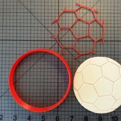 Soccer Ball Cookie Cutter and Stamp