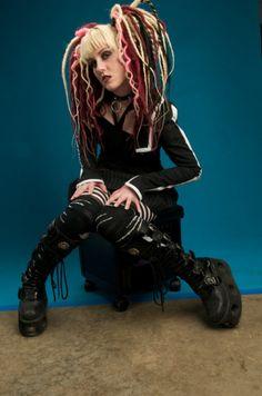 Curly Dreads, Full dread falls, Love the colors/wardrobe