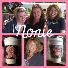 Breast Cancer Awareness Crocheted Cup Cozy by WishesOnStitches