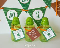 Football Birthday - Favor Tags - football party - thank you tags by theuniqueday