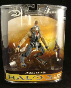 Halo 3 video game series 1 Jackal Sniper Action Figure by McFarlane Toys *NEW