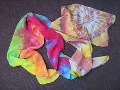 Mascadas de tie-dye