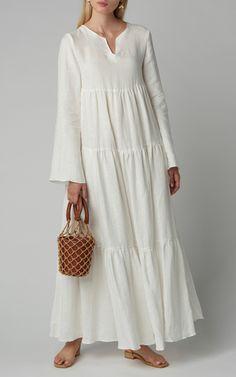 Cassine Draped Sleeve Satin Crepe Gown by Alex Perry Moda Operandi Source by Dresses Abaya Fashion, Muslim Fashion, Modest Fashion, Women's Fashion Dresses, Linen Dresses, Cotton Dresses, Casual Dresses, Summer Dresses, Midi Dresses