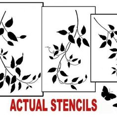 Wall Stencils Clematis Vine 3 Pc kit - Easy Wall decor with stencils