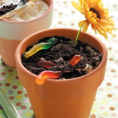 Dirt Cake Recipe - such a creative way to present a chocolate cake. Perfect for 4 year old birthday parties