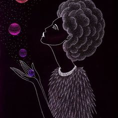 UNIVERSE WOMAN 🌌👸🌌  #illustration #dotwork #universe #galaxy