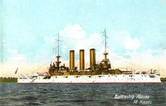 USS Maine (BB-10).  Builder: William Cramp and Sons, Philadelphia, Pennsylvania. Laid down: 15 February 1899. Launched: 27 July 1901. Commissioned: 29 December 1902. Decommissioned: 31 August 1909. Recommissioned: 15 June 1911. Decommissioned: 15 May 1920. Struck: 1 July 1921. Fate: Sold for scrapping 26 January 1922. Class & type: Maine-class battleship. Displacement: 13,500 tons.
