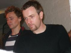 Ewan and Tom - Donmar stage door after Othello.