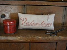Valentine Pinkeep design by Jenny Hoffman of Country Rustic Primitives