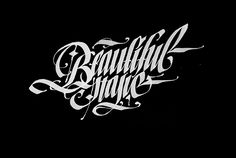 Calligraphy collection: part 2 by Pokras Lampas, via Behance Gothic Lettering, Tattoo Lettering Fonts, Types Of Lettering, Lettering Design, Lettering Styles, Calligraphy Wallpaper, Calligraphy Text, Vintage Typography, Typography Letters