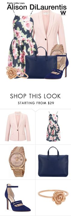 """""""Pretty Little Liars"""" by wearwhatyouwatch ❤ liked on Polyvore featuring Miss Selfridge, Sans Souci, Rolex, Loewe, Nine West and television"""
