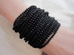 j.f. mimilla black bead bracelet.