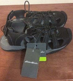 68c6b931d580 NEW Eddie Bauer Chris Bump Toe River Sandals Youth Kids Size 13 Black Grey   fashion  clothing  shoes  accessories  kidsclothingshoesaccs  boysshoes  (ebay ...