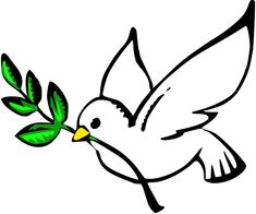 A dove with an olive branch in its beak is a universal symbol of a peace offering. Description from barbaradenny.com. I searched for this on bing.com/images