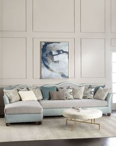 Shop Elyse Tufted Double Chaise Sectional from Haute House at Horchow, where you'll find new lower shipping on hundreds of home furnishings and gifts. Couch With Chaise, Double Chaise Sectional, Sofa Couch, Lounge Couch, Sectional Sofas, Living Room Furniture, Home Furniture, Furniture Design, Living Rooms