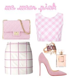 """""""we wear pink!"""" by karina-araya on Polyvore featuring 3.1 Phillip Lim, Christian Louboutin, Design Inverso, Diane Kordas and Chanel"""