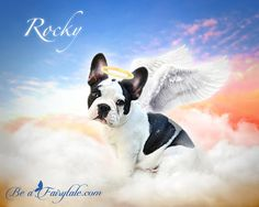 Custom Pet Portrait Angel a personalized pet loss by beafairytale Fantasy Portraits, Pet Portraits, Pet Loss, French Bulldog, Fairy Tales, Angel, Pets, Animals, Loss Of Pet