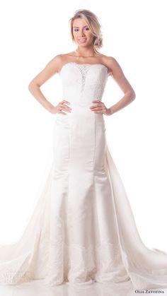 olia zavozina bridal spring 2017 strapless sweetheart mermaid wedding dress (shawn) mv shawn johnson gown