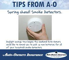 Great tip ... Spring Ahead check those Smoke Detectors