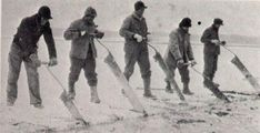 Ice Cutter – Before modern refrigeration techniques became widespread, ice cutters would saw up the ice on frozen lakes for people to use in their cellars and refrigerators. It was a dangerous job often done in extreme conditions.