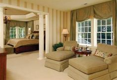 master bedroom with sitting area dimensions