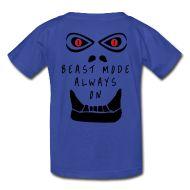 Kids' Shirts ~ Kids' T-Shirt ~ Kids Beast Mode Always On crossfit tshirt mens womens kids accessories http://www.badjackson.com